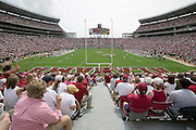 View from the end zone  during a 24 to13 Alabama Crimson Tide win over the Arkansas Razorbacks on September 24, 2005 at Bryant-Denny Stadium in Tuscaloosa, Alabama..Mandatory Credit: Wesley Hitt/Icon SMI
