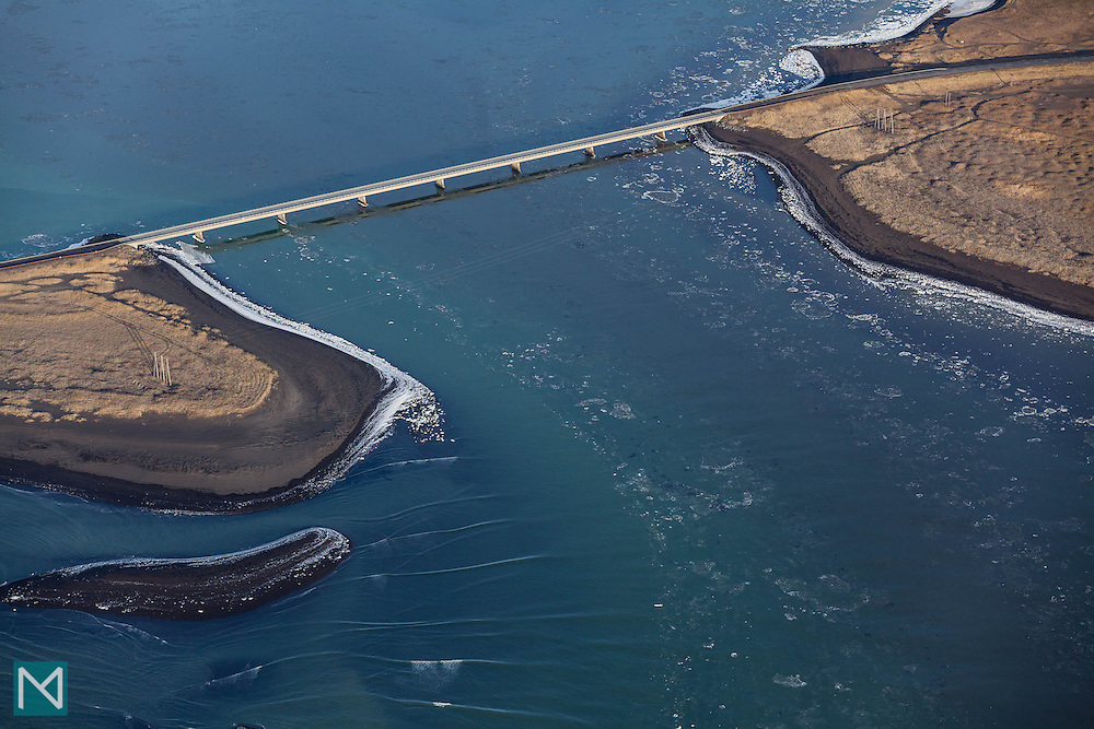 A bridge over the Ölfusá river in southern Iceland