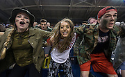 The Kennel Club student section gets loud as Gonzaga beat Pacific 90-68 Feb. 18 (Photo by Ryan Sullivan)