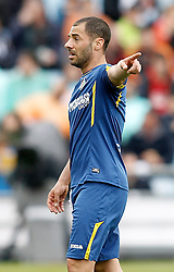 16.04.2016, Estadio Coliseum Alfonso Perez, Getafe, ESP, Primera Division, Getafe CF vs Real Madrid, 33. Runde, im Bild Getafe's Mehdi Lacen // during the Spanish Primera Division 33th round match between Getafe CF and Real Madrid at the Estadio Coliseum Alfonso Perez in Getafe, Spain on 2016/04/16. EXPA Pictures © 2016, PhotoCredit: EXPA/ Alterphotos/ Acero<br /> <br /> *****ATTENTION - OUT of ESP, SUI*****