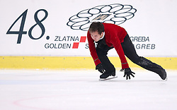 04.12.2015, Dom Sportova, Zagreb, CRO, ISU, Golden Spin of Zagreb, freies Programm, Herren, im Bild Abzal Rakimgaliev, Kazahstan. // during the 48th Golden Spin of Zagreb 2015 men Free Program of ISU at the Dom Sportova in Zagreb, Croatia on 2015/12/04. EXPA Pictures © 2015, PhotoCredit: EXPA/ Pixsell/ Igor Kralj<br /> <br /> *****ATTENTION - for AUT, SLO, SUI, SWE, ITA, FRA only*****