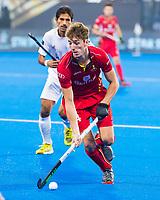 BHUBANESWAR (INDIA) - Augustin Meurmans (Belgie)  tijdens Belgie-Pakistan bij het WK Hockey heren.   COPYRIGHT KOEN SUYK