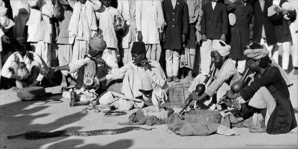 Snake Charmers, Delhi, India, 1929