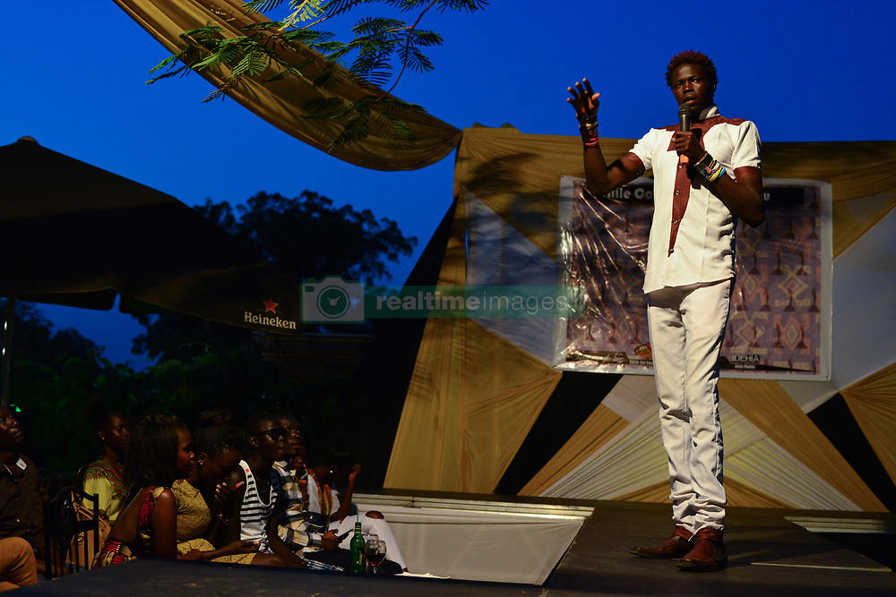 June 24, 2017 - Juba, Central Equatorial, South Sudan - South Sudanese   comedian ''Feel Feel'' entertains the crowd Saturday during the Nile Couture Fashion Show in the South Sudanese capital of Juba, where life goes in despite civil unrest that has sent hundreds of thousands of people fleeing, and two-thirds of the civilian population near famine. The country become independent from Sudan in 2011, but has struggled to function. (Credit Image: © Miguel Juarez Lugo via ZUMA Wire)