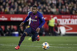 January 23, 2019 - Seville, Spain - MALCOM of Barcelona in action during the King's Cup quarter-final first leg soccer match between Sevilla FC and FC Barcelona at Sanchez Pizjuan Stadium (Credit Image: © Daniel Gonzalez Acuna/ZUMA Wire)