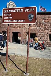 Castle Clinton National Monument, Manhattan, New York City, New York.