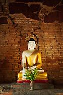 Statue inside small temple at Inwa, Mandalay