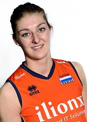 28-12-2015 NED: Nederlands Volleybalteam vrouwen, Arnhem<br /> Nederlands volleybalteam vrouwen op de foto met de nieuwe sponsorshirt ilionx / Anne Buijs #11
