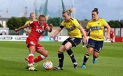 Claire Emslie of Bristol City Women tries to get a shot off - Mandatory by-line: Robbie Stephenson/JMP - 25/06/2016 - FOOTBALL - Stoke Gifford Stadium - Bristol, England - Bristol City Women v Oxford United Women - FA Women's Super League 2