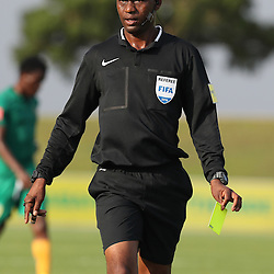 Referee Mr Victor Hlungwani during the 2016 Premier Soccer League match between Golden Arrows and Chippa United held at the Princess Magogo Stadium in Durban, South Africa on the 15th October 2016<br /> <br /> Photo by:   Steve Haag / Real Time Images