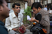 Diamonds are sold on the streets by the Opera House in Mumbai.