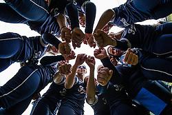 Team France huddle, 2015 Torneo della Repubblica Bollate.