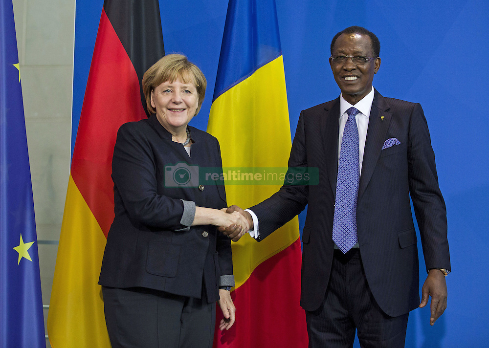 October 12, 2016 - Berlin, Germany - Gemeinsame Pressekonferenz der Bundeskanzlerin Angela Merkel mit dem Staatspraesidenten der Republik Tschad Idriss Deby am 12. Oktober 2016 im Bundeskanzleramt Berlin. | Joint press conference of the German Chancellor Angela Merkel with the President of the Republic of Chad Idriss Deby on October 12, 2016 at the Federal Chancellery in Berlin..Credit: Stocki/face to face (Credit Image: © face to face via ZUMA Press)
