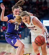 Gonzaga beat Portland Pilots 75-36. Photo by Gavin Doremus.