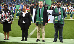Cape Town-180519 Acting PSL CEO Mato Madlala and Minister of Sport Tokozile Xasa attended the Nedbank final at the Cape Town Stadium  .photograph:Phando Jikelo/African News Agency/ANA