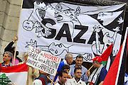Manifestation contre la guerre à Gaza.