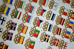 Olympic trading pins.