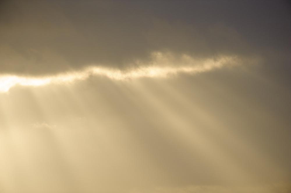 Sun beams, Iceland