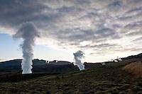 Á Nesjavöllum. Nesjavellir Geothermal Power Plant, Iceland.