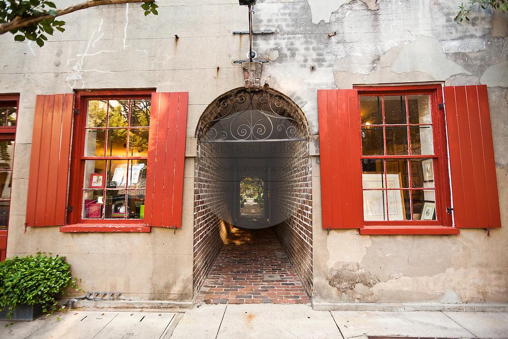 Historic houses along Church Street Charleston, SC.