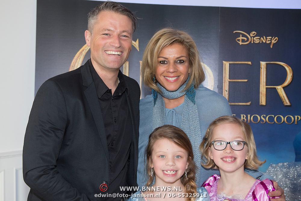 NLD/Rotterdam/20150315 - Premiere Cinderella, Leontien van Moorsel, partner Michael Zijlaard en dochter
