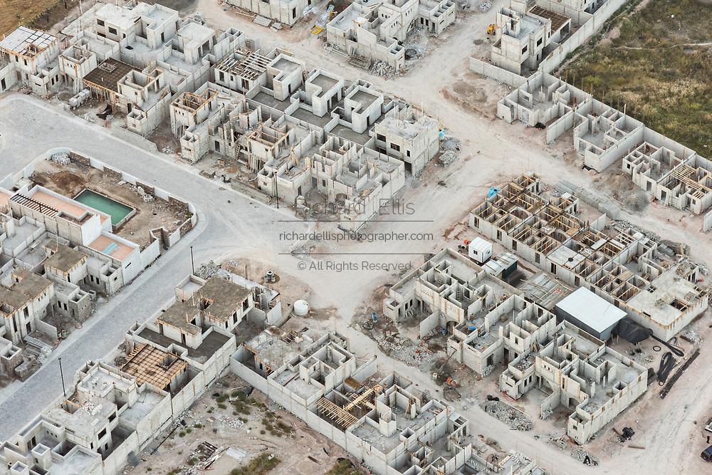 A development of homes under construction outside San Miguel de Allende, Mexico.