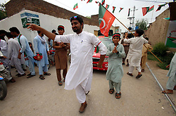July 27, 2018 - Pakistan - PESHAWAR, PAKISTAN, JUL 26: Supporters of Tehreek-e-Insaf (PTI) are celebrate victory of .their party in General Election 2018 during celebration demonstration in Peshawar on Thursday, .July 26, 2018. (Credit Image: © PPI via ZUMA Wire)