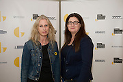 Brenda O'Sullivan and Briege Lynch, both with GoBus  at  the opening night of Galway international Arts Festival 2015 at the Radisson Blu Hotel Galway. Photo:andrew Downes xposure