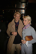 Alistair Guy and Sophie Mcelligott, Spring party at Frankie Dettori's bar and Grill. 3 Yeoman's Row. London sw3. 10 April 2006. ONE TIME USE ONLY - DO NOT ARCHIVE  © Copyright Photograph by Dafydd Jones 66 Stockwell Park Rd. London SW9 0DA Tel 020 7733 0108 www.dafjones.com