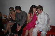 Lady Eloise Anson, Will Blaney, Natalia Kowalewska and Thomas Wetzer. Andy & Patti Wong's Chinese New Year party to celebrate the year of the Rooster held at the Great Eastern Hotel, Liverpool Street, London.29th January 2005. The theme was a night of hedonism in 1920's Shanghai. . ONE TIME USE ONLY - DO NOT ARCHIVE  © Copyright Photograph by Dafydd Jones 66 Stockwell Park Rd. London SW9 0DA Tel 020 7733 0108 www.dafjones.com