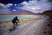 Mountain biking in southwest Bolivia.