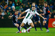 17-10-2015 VOETBAL:FC GRONINGEN-WILLEM II:GRONINGEN<br /> <br /> Stijn Wuytens van Willem II in duel met Mimoun Mahi<br /> <br /> <br /> Foto: Geert van Erven