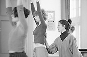 Photographs of Gill Clarke teaching in a 'Dancers Recess' at Swindon Dance Agency, April 1998