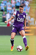 MELBOURNE, VIC - MARCH 03: Perth Glory midfielder Christopher Ikonomidis (19) controls the ball at the round 21 Hyundai A-League soccer match between Melbourne City FC and Perth Glory on March 03, 2019 at AAMI Park, VIC. (Photo by Speed Media/Icon Sportswire)