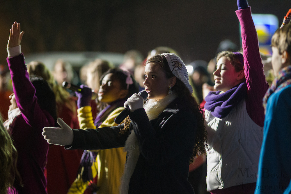 The Harmony Show Choir from MainStage Center for the Arts performs a song during Gloucester Township Third Annual Tree Lighting  at Veterans Park in Gloucester Township, NJ on Sunday December 16, 2012. (photo / Mat Boyle)