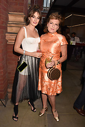 Lady Violet Manners and The Duchess of Rutland at the Victoria & Albert Museum's Summer Party in partnership with Harrods at The V&A Museum, Exhibition Road, London, England. 20 June 2018.