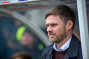 Scunthorpe United manager Graham Alexander during the EFL Sky Bet League 1 match between Scunthorpe United and Rotherham United at Glanford Park, Scunthorpe, England on 10 February 2018. Picture by Craig Zadoroznyj.