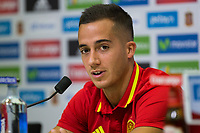 Spanish Lucas Vazquez during the press conference of the concentration of Spanish football team at Ciudad del Futbol de Las Rozas before the qualifying for the Russia world cup in 2017 August 30, 2016. (ALTERPHOTOS/Rodrigo Jimenez)