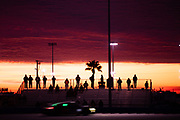 January 22-26, 2020. IMSA Weathertech Series. Rolex Daytona 24hr. #88 WRT Speedstar Audi Sport Audi R8 LMS GT3, GTD: Mirko Bortolotti, Rolf Ineichen, Daniel Morad, Dries Vanthoor Spectators at sunrise