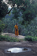 Monk and landscape.