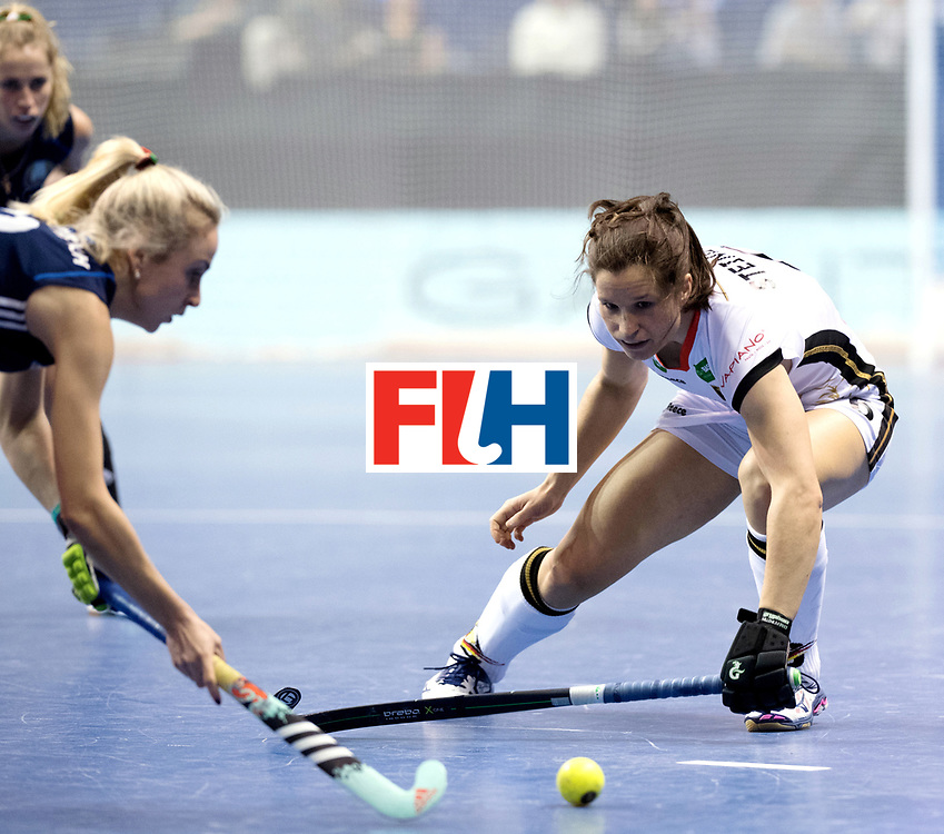 BERLIN - Indoor Hockey World Cup<br /> Semi-final: Belarus - Germany<br /> foto: Luisa Steindor.<br /> WORLDSPORTPICS COPYRIGHT FRANK UIJLENBROEK