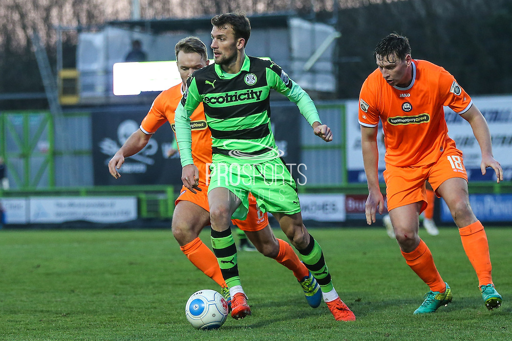 Forest Green Rovers Christian Doidge(9) on the ball during the Vanarama National League match between Forest Green Rovers and Braintree Town at the New Lawn, Forest Green, United Kingdom on 21 January 2017. Photo by Shane Healey.