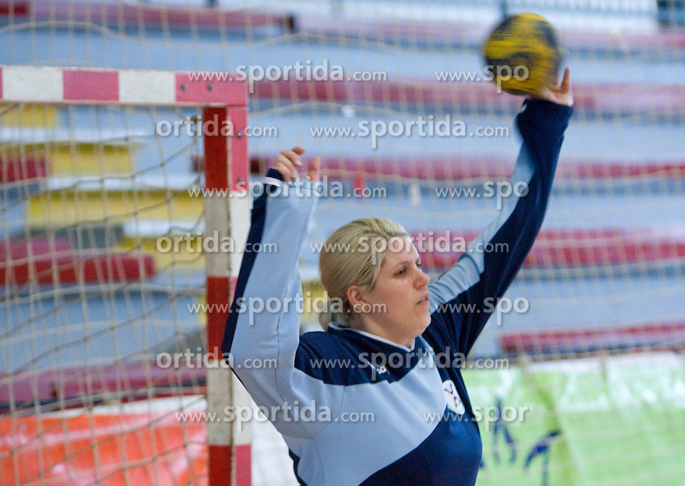 Misa Marincek at practice of Slovenian Handball Women National Team, on June 3, 2009, in Arena Kodeljevo, Ljubljana, Slovenia. (Photo by Vid Ponikvar / Sportida)