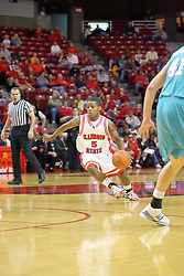 "18 November 2007: Keith ""Boo"" Richardson charges the lane. Illinois State Redbirds defeated the Seahawks of the University of North Carolina - Wilmington 89-73 on Doug Collins Court in Redbird Arena on the campus of Illinois State University in Normal Illinois."