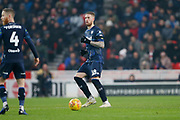 Leeds United defender Pontus Jansson (18)  during the EFL Sky Bet Championship match between Stoke City and Leeds United at the Bet365 Stadium, Stoke-on-Trent, England on 19 January 2019.