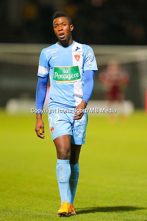 Birama TOURE  - 26.01.2015 - Angers / Brest - 21eme journee de Ligue 2 -<br /> Photo : Vincent Michel / Icon Sport