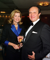 The DUKE & DUCHESS THEODOLI BRASCHI, at a dinner in London on 17th February 2000.OBE 15