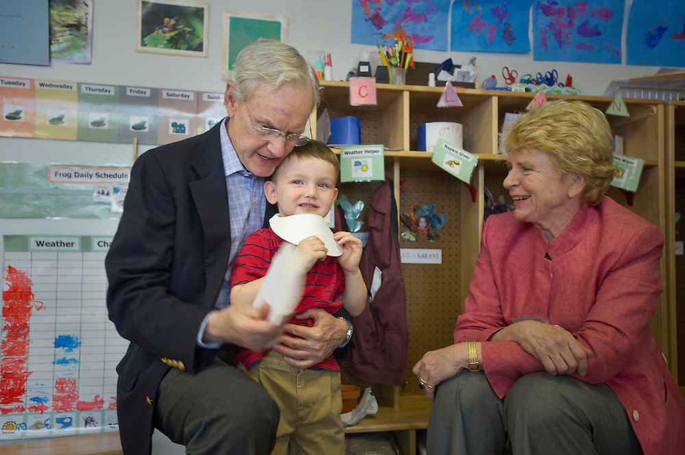 Washington, DC (May  7, 2010) -- It's grandparents day at the River School in Northwest Washington, DC.  The river School's mission is to provide successful educational experiences for children and their families by uniting the best practices of early childhood education and oral deaf education, and to promote clinical research and training in child language and literacy.  Photo by Johnny Bivera