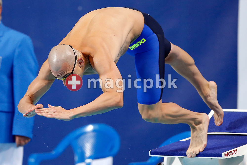 Laszlo CSEH of Hungary competes in the men's 50m Butterfly Semifinal during the 16th FINA World Swimming Championships held at the Kazan arena in Kazan, Russia, Sunday, Aug. 2, 2015. (Photo by Patrick B. Kraemer / MAGICPBK)