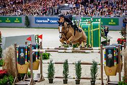 EHNING Marcus (GER), Pret A Tout<br /> Genf - CHI Geneve Rolex Grand Slam 2019<br /> Rolex Grand Prix<br /> Internationale Springprüfung mit Stechen<br /> International Jumping Competition 1m60<br /> Grand Prix Against the Clock with Jump-Off<br /> 15. Dezember 2019<br /> © www.sportfotos-lafrentz.de/Stefan Lafrentz